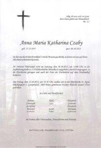 Parte Anna Maria Katharina C.